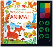 Disegno con i timbri. Animali - Fiona Watt | Libro | Itacalibri